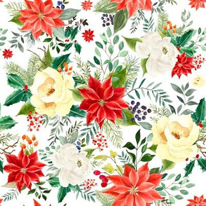 """8"""" Christmas Poinsettia // White"""