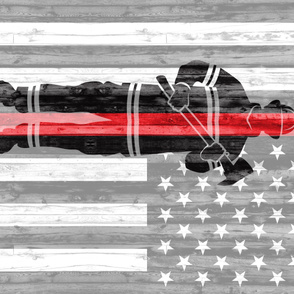 (1 yard  panel) firefighter - red line flag LAD19