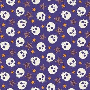 Stars & Skulls on Purple