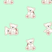 Polar Teddy Bear Baby Mint Green