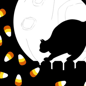 Halloween  Cat with candy corn