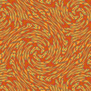 Tropical Orange Swirl