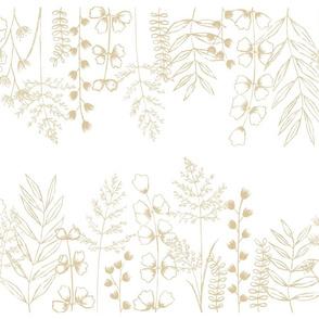 Grass Fields - Sand on White Medium Scale