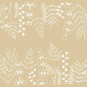 Grass Fields - White on Sand Medium Scale