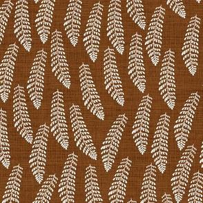 Forest Fern Dark Copper Brown