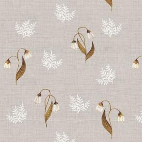 Feathery Fern Vintage Linen