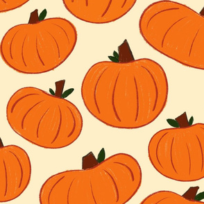 Pumpkin Patch - Bold on Cream - Jumbo Scale
