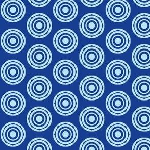 Rotating Rings of BabyBlue on NavyBlue
