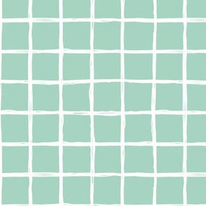 Christmas time abstract geometric checkered stripe trend pattern grid mint