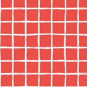 Christmas time abstract geometric checkered stripe trend pattern grid red