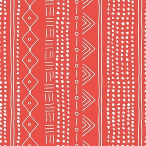Christmas minimal mudcloth bohemian mayan abstract indian summer love aztec christmas red