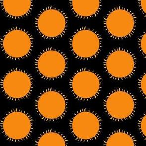 Orange Sun Pops on Black