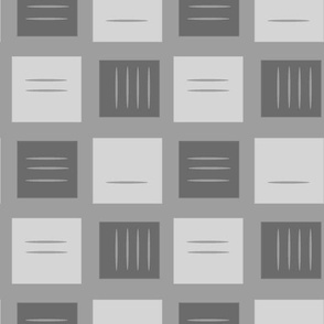 retro squares in grey