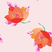 Colorful Watercolor Floral Pattern-1114