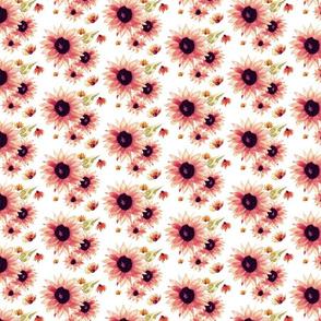 Watercolor Sunflower | Pink Green |Renee Davis