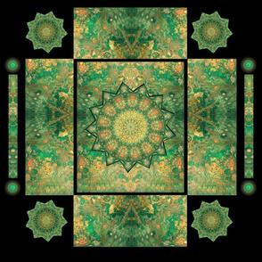 Emerald Isle Cross Quilt Block