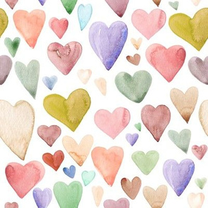 Earth Tone Hearts