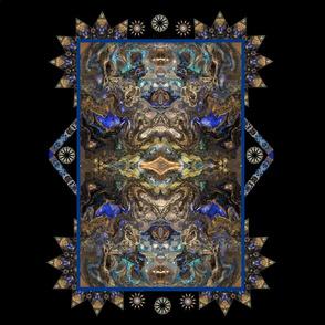 cobalt blue 10 x 10 quilt block