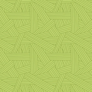 Crossing Lines in Bright Green