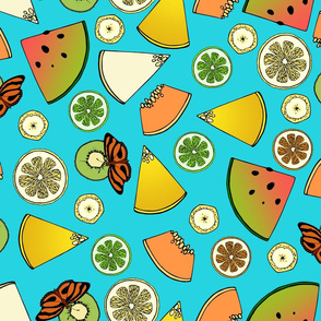 Tropical Fruit and Butterflies