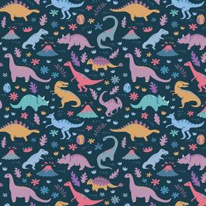 Kawaii Dinosaurs + Volcanoes