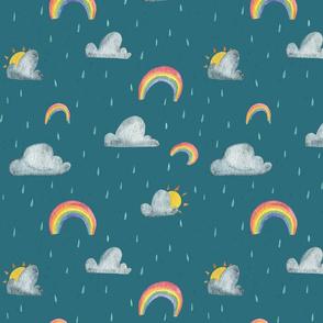 Rainy Days on Teal