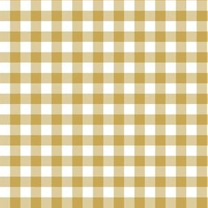 "6"" Gold Gingham"