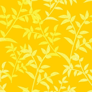 Textured yellow leaves