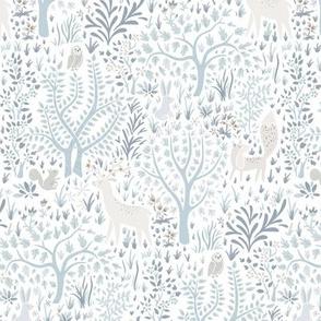 Woodland Animals White (small)