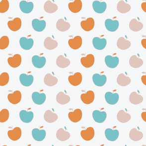 Cute apples in modern fall colors