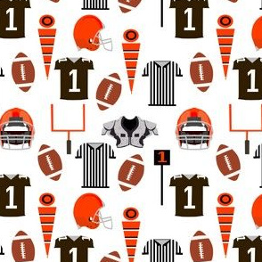 browns football fabric - sports fabric, sport fabric