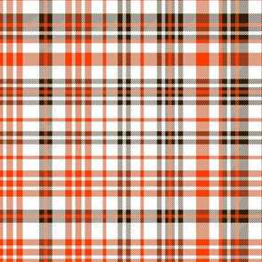 browns plaid fabric - orange and brown fabric
