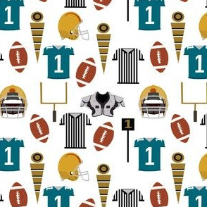 jacksonville jaguars fabric - teal and mustard fabric, football fabric, american football fabric, sports, sport fabric - jax