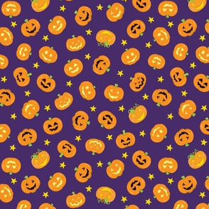 Pumpkins On Purple Small