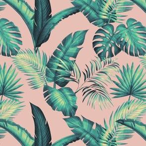 Fronds - Light Pink/Teal