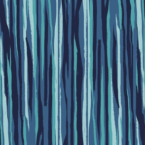 Painted Stripe - Navy