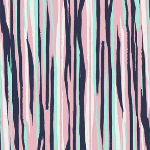 Painted Stripe - Light Pink