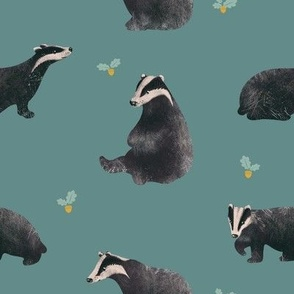 Badgers and acorns