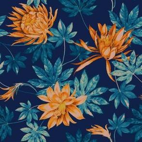 Jolly Springs Floral - Navy