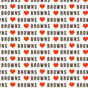 SMALL - browns fabric - sports, football sport, sports fabric, orange and brown