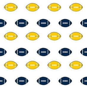 michigan footballs - maize and navy football fabric, college football fabric