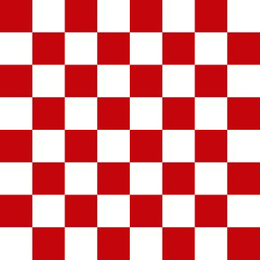wisconsin checkerboard - red and white checkerboard fabric