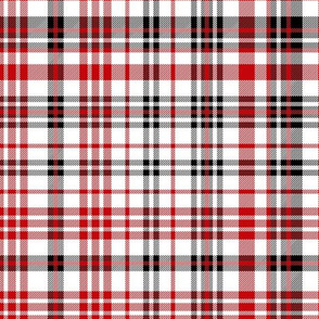 wisconsin plaid - red and black plaid, tartan, check, wisconsin badgers