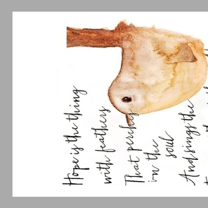 Hope is the The Thing With Feathers Tea Towel