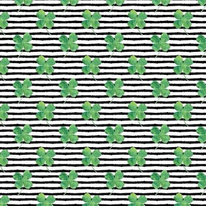 """(1"""" scale) watercolor clover on stripes C19BS"""