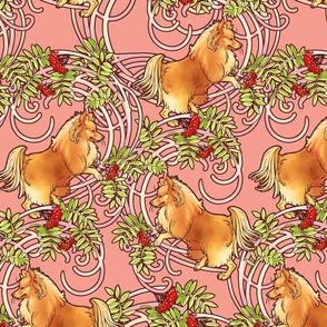Pink Rowan Art Nouveau