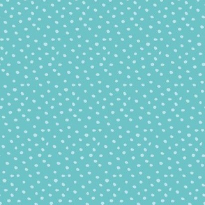dots on turquoise