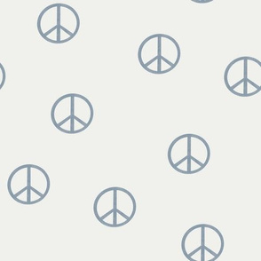 peace sign fabric - denim sfx4013 -  boho hippie fabric, earth toned kids bedding, neutral nursery fabric
