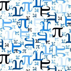 Pieces of Pi (Blue Small)