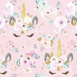 unicorn floral-blush